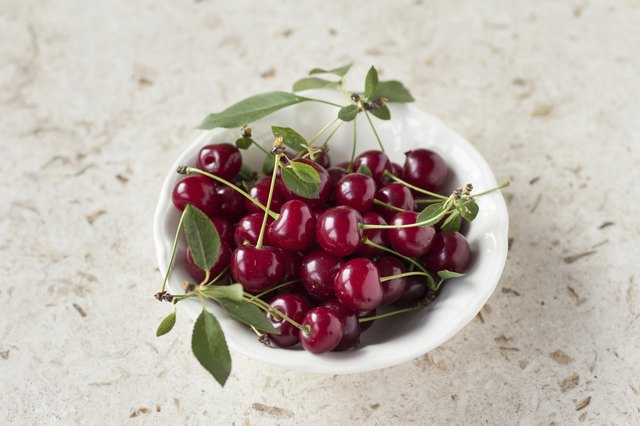 Sour cherries.