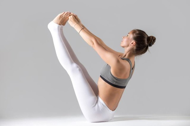 Boat pose can cause increased spinal pressure. in individuals with osteoporosis.