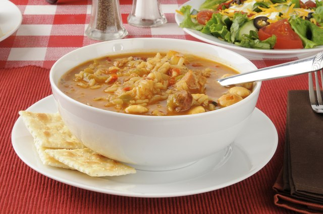 Soups and stews are good meal stretchers.