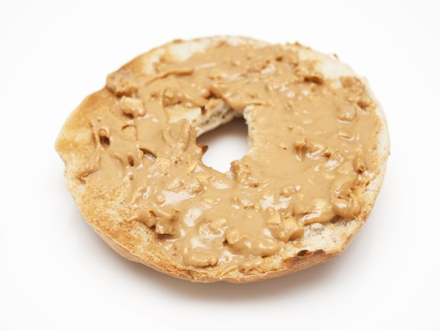 Bagel with peanut butter