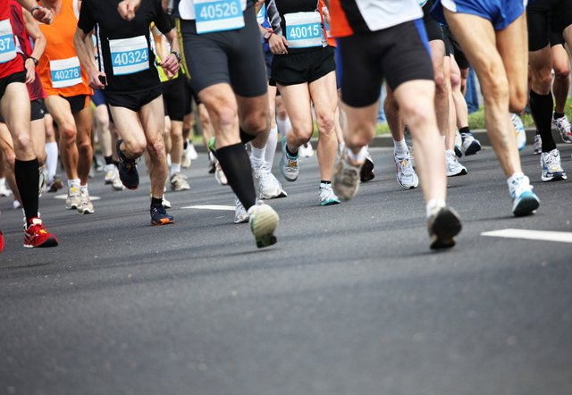 Long distance runners tend to have leaner legs than sprinters.