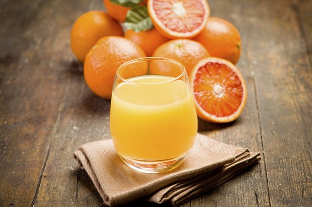 Orange juice is high in acidity.