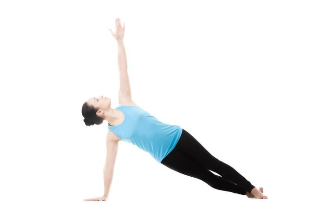 Many yoga poses strengthening both the lower back and hip muscles.