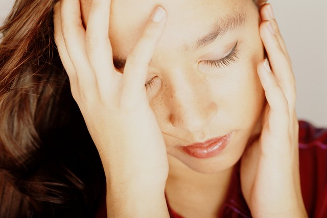 A migraine may cause flashing lights in the eyes.