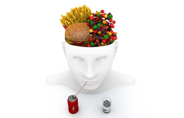 Raised insulin blocks the brain from knowing the stomach is full.
