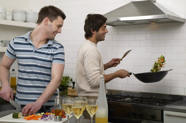 Some people prefer stainless steel pans for cooking because they're durable and do not stain.