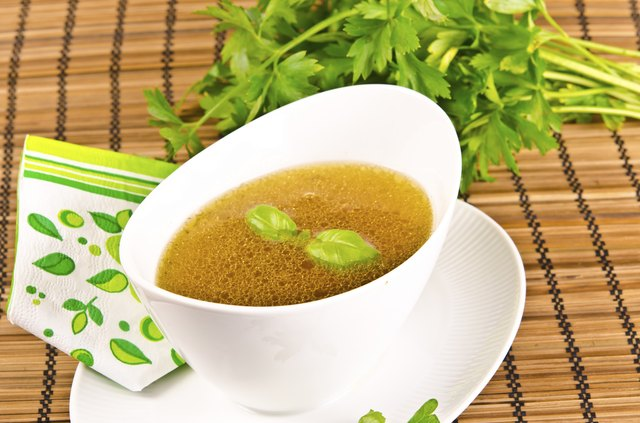 Juices and broth can serve as an alternative to salad dressing.