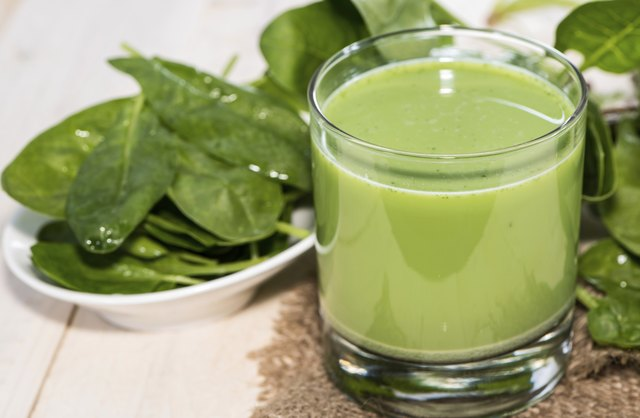 Fresh spinach juice.