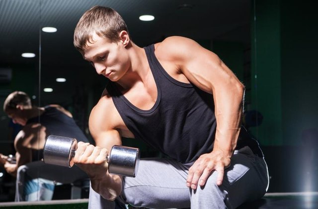 Bicep curls work the front of your arms.