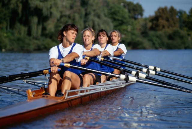 Rowing builds upper body strength and your knees don't bear the impact of your body weight.
