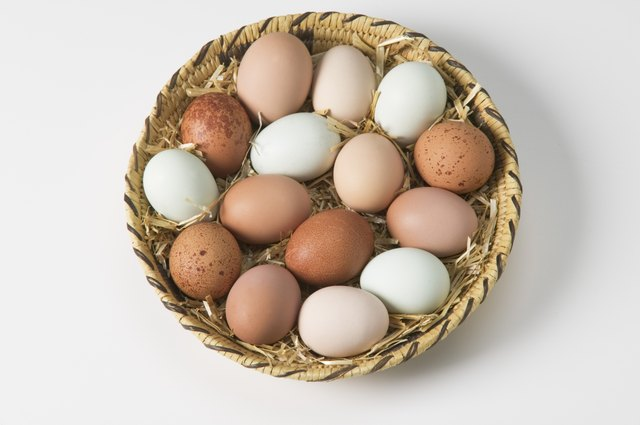 Assorted eggs.