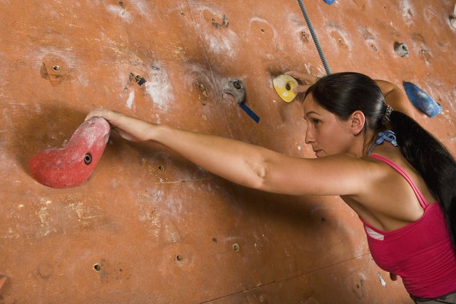 Indoor climbing walls give you the same workout, without the harsh sun.