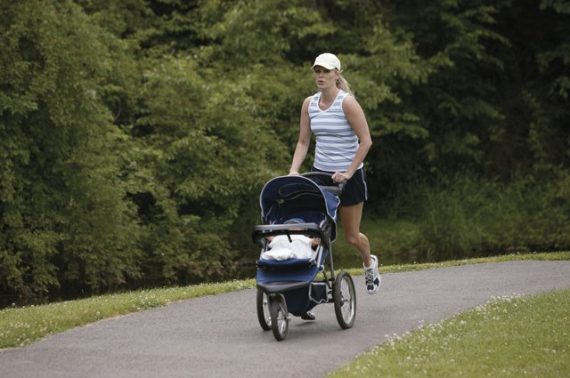 Walk or jog with your baby in her stroller during morning naptime, where she can sleep while you exercise.