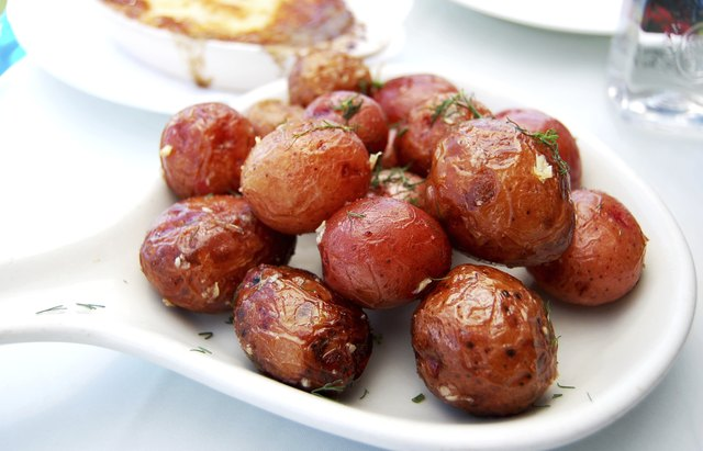 plate of roasted red potatoes