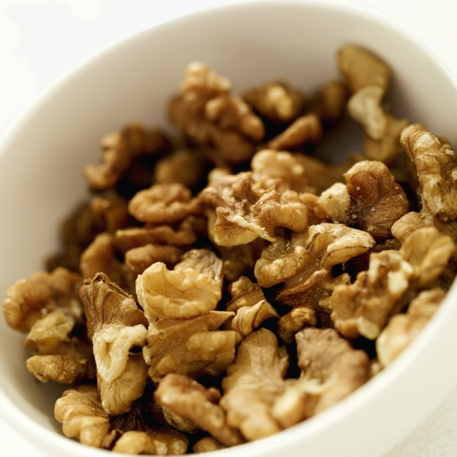 Bowl of walnuts.