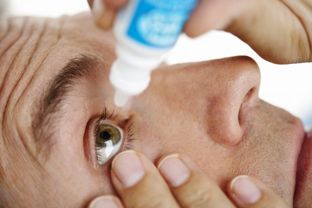 Eye drops can ease some of the itching and burning.
