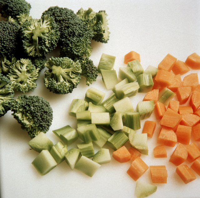 Eat fresh vegetables such as carrots, celery and other vegetables.