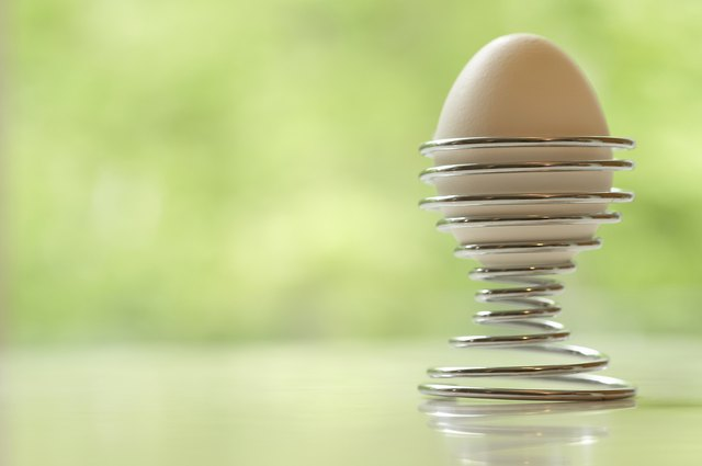 Bland foods such as hard-boiled eggs are recommended after the second or third day.