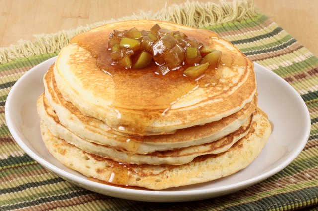 Apple butter and pancakes work really well together.
