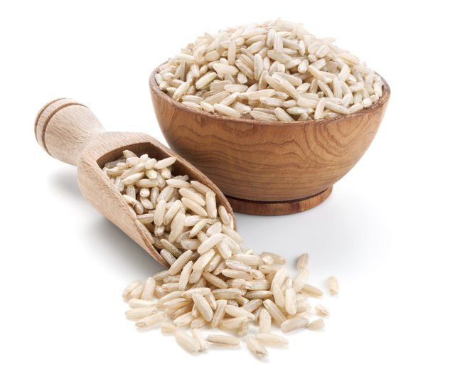Brown rice contains Vitamin E.