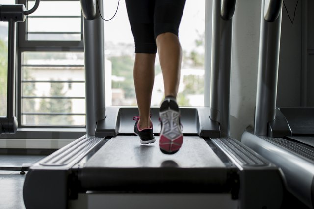 Treadmill in use