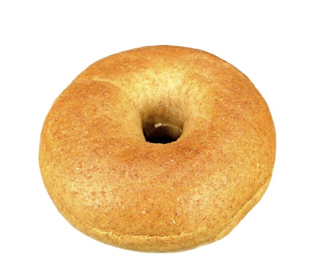 Mini whole wheat bagel