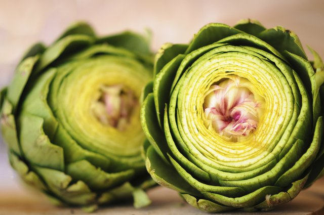 Two artichokes
