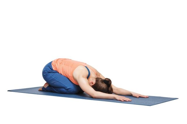 Child's pose stretches out the erector spinae.