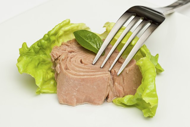 Canned tuna.