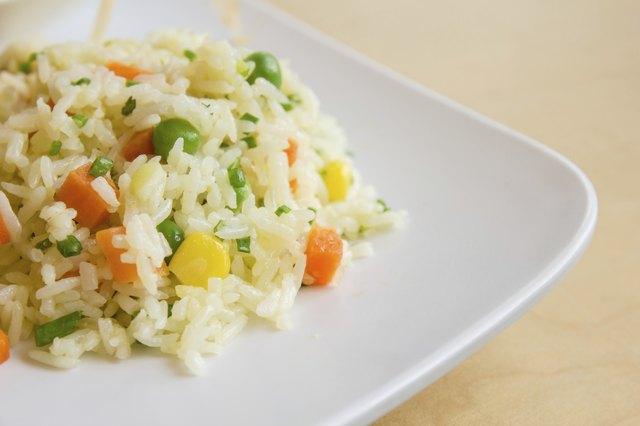 Avoid high carb meals like vegetable stir-fry rice.