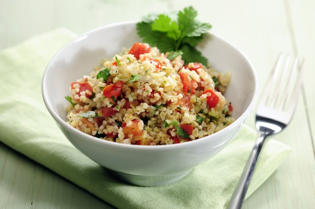 Eating couscous provides you with a good source of lean, vegetarian protein.