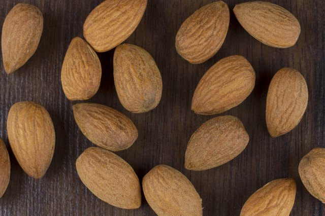 almonds is another of the foods high in arginine