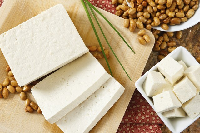 Tofu is a good source of protein.
