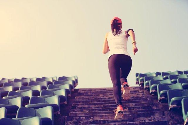 Running stairs will tone your glutes more than running on flat ground.