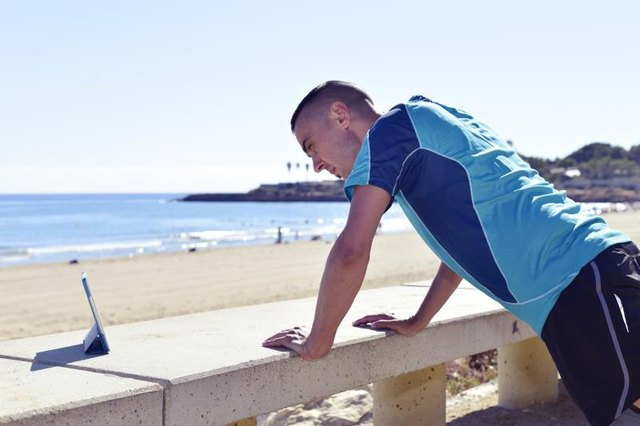 Be creative when looking for an incline for push-ups.