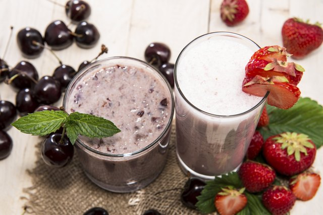 Check the nutritional information of smoothies.