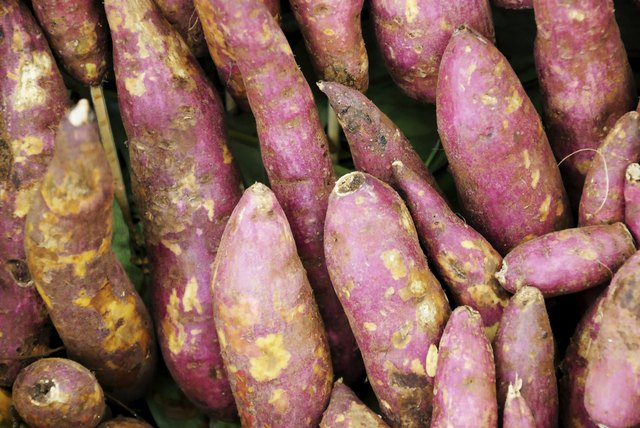 Sweet potatoes have a lot of fiber.