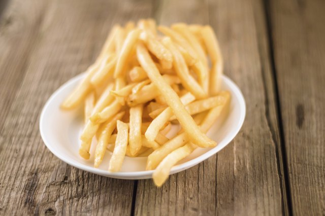 Avoid greasy foods like french fries.