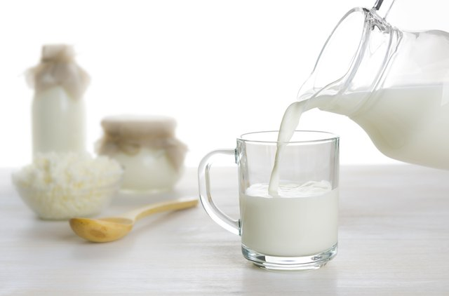 Milk is a good source of calcium.