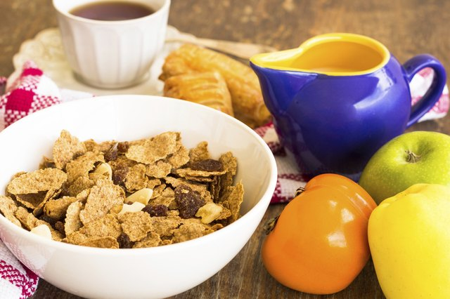 Breakfast cereal with raisins