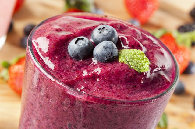Make a high-calorie smoothie for one of your meal or snack options.