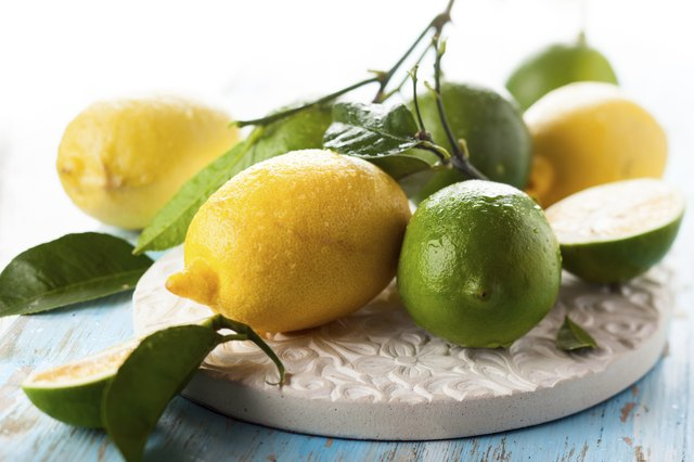 lemons and limes have the most citric acid of all citrus fruits