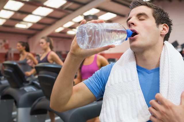 Drinking water after treadmill workout
