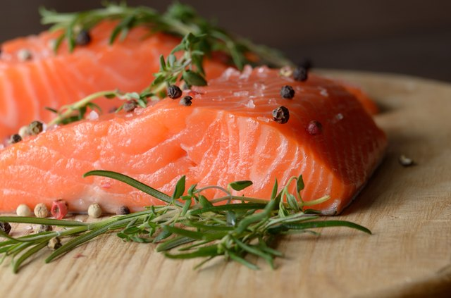 Salmon provides essential omega-3 fatty acids.