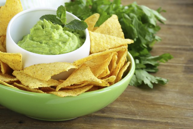 Corn chips and guacamole