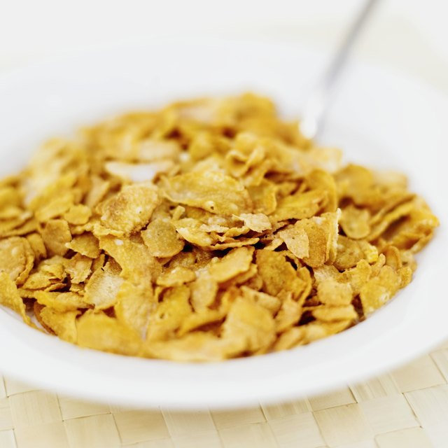 Corn flakes cereal.