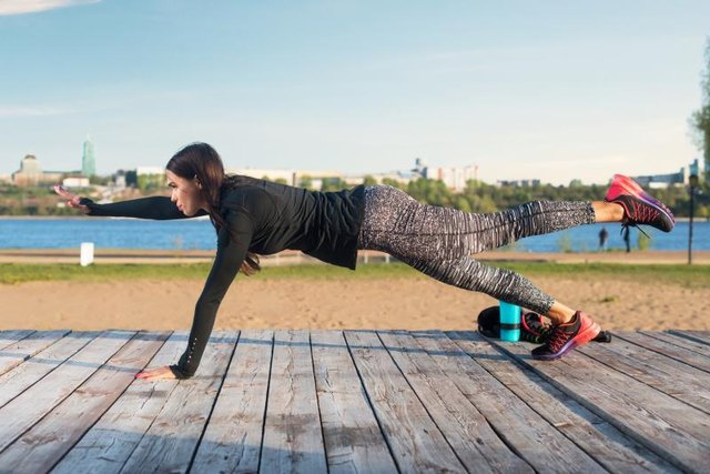 Bird-dog planks are an excellent isometric exercise to target your entire core.