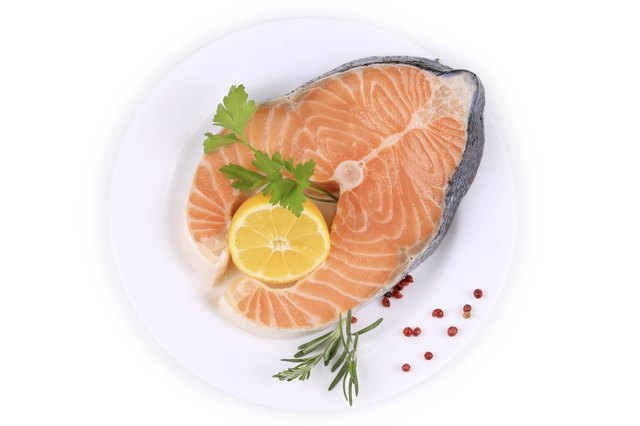 Salmon is high in protein.