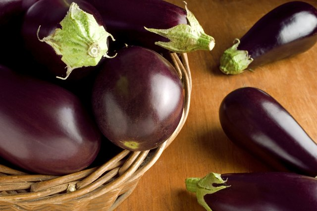 eggplant is a starchy vegetable rich in complex carbohydrates