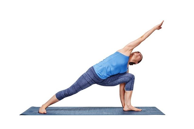 Side angle is a pose in the Ashtanga standing series.